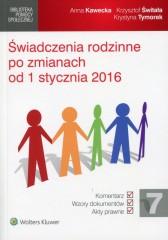 Świadczenia rodzinne po zmianach od 1 stycznia 2016