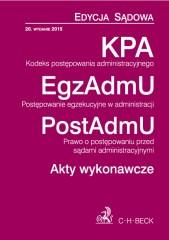 KPA EgzAdmU PostAdmU Akty wykonawcze