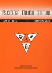 Psychologia Etologia Genetyka Tom 31/2015