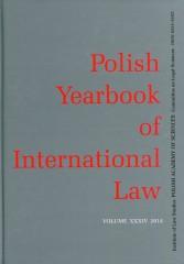 Polish Yearbook of International Law XXXIV/2014