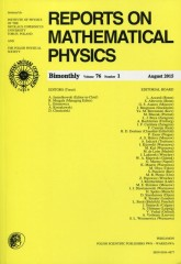 Reports on Mathematical Physics 76/1 2015 Pergamon