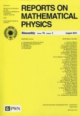Reports on Mathematical Physics 76 2015 kraj