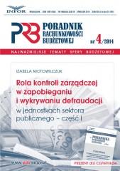 Rola kontroli zarządczej w zapobieganiu i wykrywaniu defraudacji w jednostkach sektora publicznego