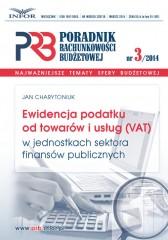 Ewidencja podatku od towarów i usług(vat) w jednostkach  sektora finansów publicznych