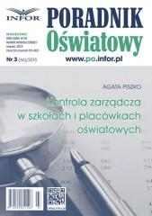 Kontrola zarządcza w szkołach i placówkach oświatowych