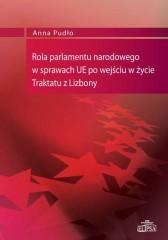 Rola parlamentu narodowego w sprawach UE po wejściu w życie Traktatu z Lizbony