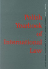 Polish Yearbook of International Law Tom XXXIII