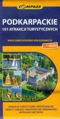Podkarpackie 101 atrakcji turystycznych mapa samochodowo-krajoznawcza 1:200 000