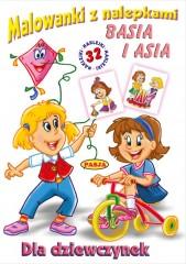 Malowanki z nalepkami Dziewczynki Basia i Asia