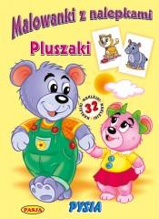 Malowanki z nalepkami Pluszaki Pysia