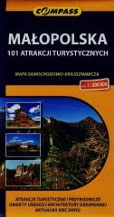Małopolska 101 atrakcji turystycznych mapa samochodowo-krajoznawcza