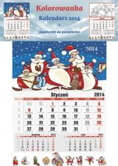 Kolorowanka Kalendarz 2014