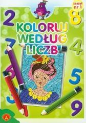 Koloruj według liczb zeszyt 1