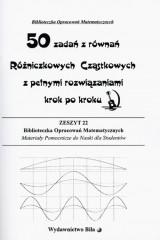 50 zadań z równań Różniczkowych Cząstkowych z pełnymi rozwiązaniami krok po kroku