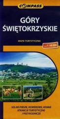 Góry Świętokrzyskie mapa turystyczna