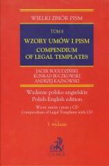 Wzory umów i pism z CD Compendium of Legal Templates Tom 6