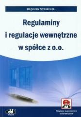 Regulaminy i regulacje wewnętrzne w spółce z o.o.