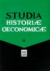 Studia Historiae Oeconomicae 26