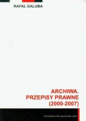 Archiwa przepisy prawne 2000-2007 z płytą CD