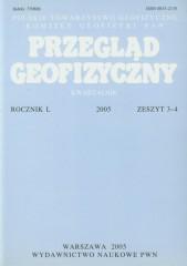 Przegląd Geofizyczny Rocznik L 2005 Zeszyt 3-4