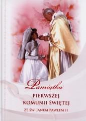 Pamiątka Pierwszej Komunii Świętej ze Św Janem Pawłem II
