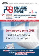 Zamknięcie roku 2015 w jednostkach sektora finansów publicznych
