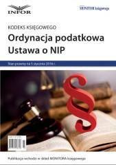 Ordynacja podatkowa Ustawa o NIP