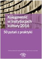 Księgowość w instytucjach kultury 2016