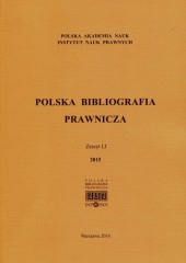 Polska Bibliografia Prawnicza 2015