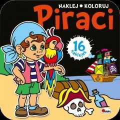 Piraci naklej koloruj