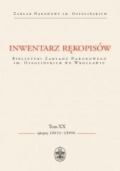 Inwentarz rękopisów BZN.im.Ossolińskich we Wrocł t.XX Rękopisy