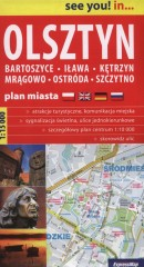 Olsztyn Bartoszyce Iława Plan miasta 1:15000
