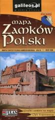 Mapa zamków Polski Mapa turystyczno-samochodowa 1:900 000