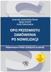 Opis przedmiotu zamówienia po nowelizacji Najważniejsze zasady i praktyczne przykłady