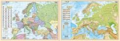Europa polityczno-fizyczna mapa-podkładka na biurko