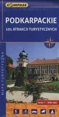 Podkarpackie 101 atrakcji turystycznych Mapa turystyczna 1:200 000