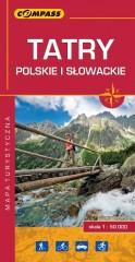 Tatry polskie i słowackie mapa laminowana