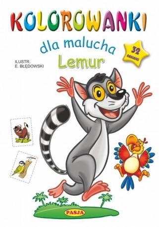 Kolorowanki dla malucha Lemur