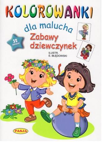 Kolorowanki dla malucha Zabawy dziewczynek