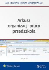 Arkusz organizacji pracy przedszkola