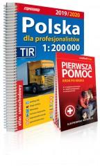Polska dla profesjonalistów 1:200 000 Atlas samochodowy + instrukcja pierwszej pomocy 1:200 000