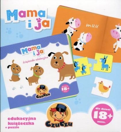 CzuCzu Mama i ja Edukacyjna książeczka + puzzle