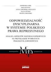 Odpowiedzialność dyscyplinarna w systemie polskiego prawa represyjnego