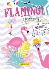 Kolorowanka Flamingi plus naklejki